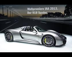 porsche hybrid supercar plug in hybrid 918 spyder 2013