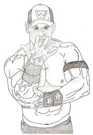 coloring pages kids wwe john cena pages wrestling theotix