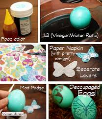 Easter Eggs Decorated With Paper Napkins by Decoupaged Easter Eggs Its Overflowing Simply Inspired Home Living