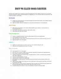 Telemarketing Resume Sample by The Most Elegant How To Make Better Resume Resume Format Web