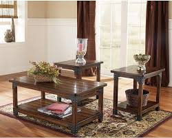 murphy 3 piece coffee and two end tables package the brick