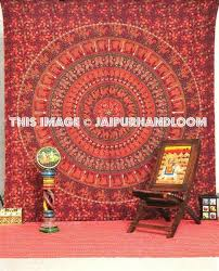 red tapestry wall hanging indian mandala tapestries dorm room bedding