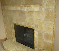 Travertine Fireplace Hearth - beige travertine fireplace from united states 173 stonecontact com