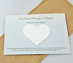 seed paper card and seed paper heart memorial gift ec friendly memorial gift