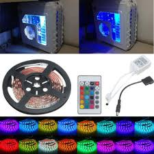 purple led lights for computers 0 5 1 1 5 2m rgb 5050 16 colors led strip computer chassis lights