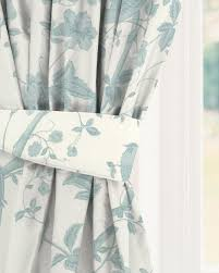 Duck Egg Blue Blackout Curtains Made To Measure Curtains In Summer Palace Off White Duck Egg