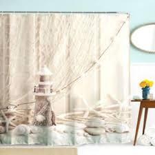 Nautical Curtain Fabric Nautical Seashell Decor Shower Curtain Fabric Unique Coastal Sea