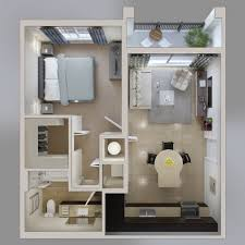 Studio Apartment Floor Plans by 1 Bedroom Apartment House Plans