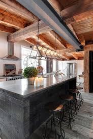 rustic kitchen island in modern rustic kitchen island design