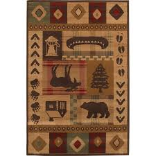 mohawk home area rugs shop mohawk home westland lt dark brown rectangular indoor woven