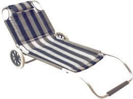 sieges de plage transat plage roulettes transportable é bleu