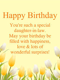 to a special daughter in law happy birthday card birthday