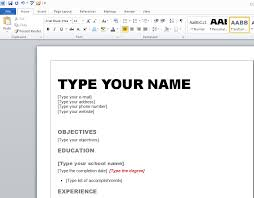 Word Resume Template 2007 Word 2007 Resume Template How To Use Resume Template In Word 2007