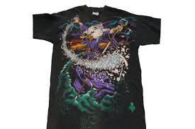 vintage 1994 liquid blue wizard t shirt size xl all over print
