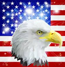 The America Flag Eagle America Love Heart Concept With And American Bald Eagle