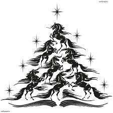 xmas stuff for christmas tree drawing black and white clip art