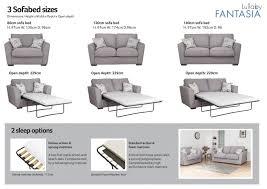 Sofa Sizes Buoyant Fantasia 1 Seater Sofa Bed Fantasia Rg Cole Furniture