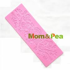 Decoration Fondant Cake Aliexpress Com Buy Mom U0026pea Gx186 Free Shipping Lace Mold Cake