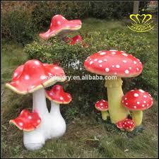 garden home decoration cartoon mushroom resin crafts small