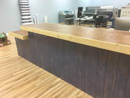 Ada Reception Desk Purple Rain 13 U0027 Rustic Finished Real Wood Sales Counter Or