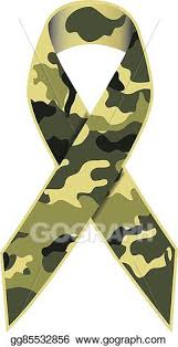 camouflage ribbon vector camouflage ribbon eps clipart gg85532856