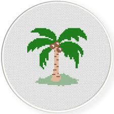 coconut tree cross stitch pattern daily cross stitch
