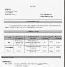 Best Resume For Freshers by Electronics Engineering Resume Samples