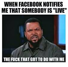 Fuck That Meme - when facebook notifies methat somebody is live the fuck that got to
