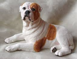 american bulldog figurine my bulldog american