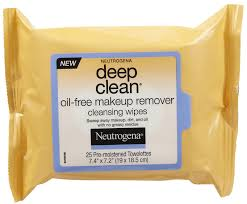 neutrogena deep clean oil free makeup remover cleansing wipes