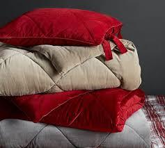 Maroon Comforter Velvet Comforter U0026 Sham Ruby Pottery Barn