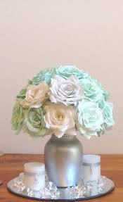 Quinceanera Table Decorations Centerpieces Mint Green Wedding Centerpiece Bridal Table By Centertwine On Etsy