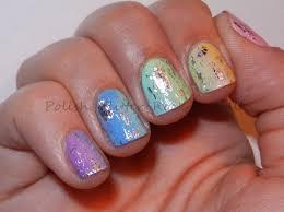 polish glitter rock u0026 roll rainbow gradient with nail foils