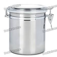 Metal Containers With Lids For Storage - stainless steel airtight pot fresh food storage container silver