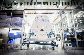file dragon capsule being shipped out of spacex hawthorne facility