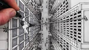 how to draw using 1 point perspective city bird u0027s eye view