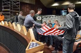 Ceremony Flag Gallagher Veterans Program U0027folds U0027 Flag History Into Ceremony