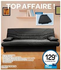 carrefour canapé carrefour promotion canapé clic clac toronto noir produit maison