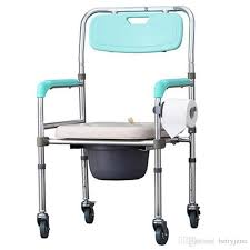 Shower Chairs With Wheels Wheelchair Toilet Chair Elderly Stroke Hemiplegia Handicapped