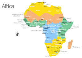 africa map with countries cities and capitals template