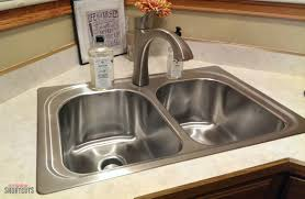 Moen Kitchen Faucet Removal Instructions by Diy Moen Kitchen Sink U0026 Faucet Install Everyday Shortcuts