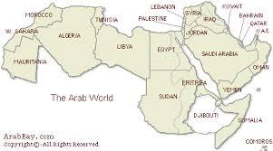 arab map arab world map