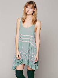 free people voile and lace trapeze slip in gray lyst