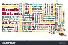 Map Of Sd Abstract Word Cloud Map South Dakota Stock Illustration 103254992