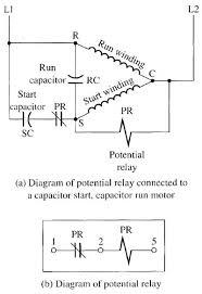 single within capacitor start run motor wiring diagram gooddy org