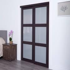 Espresso Closet Doors Erias Home Designs Closet And Room Divider Door Espresso 3