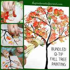 bundled q tip autumn tree the pinterested parent