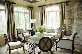 Cambria Wood Curtain Rods Bathroom Fascinating Animal Decoration In Traditional Living Room
