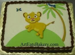 Lion King Baby Shower Cake Ideas - art eats bakery custom fondant wedding and birthday cake designs