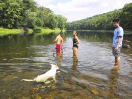 Delaware wild swimming images Gopro cliff jump swim and hike the delaware river in worthington jpg